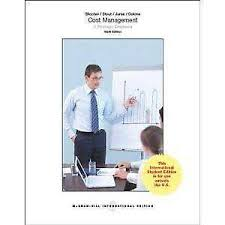 Cost management : a strategic emphasis 6th ed.