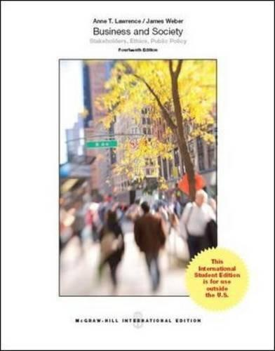 Business and society : stakeholders, ethics, public policy 14th ed.